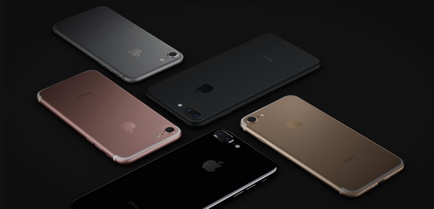 iPhone 7 y iPhone 7 Plus en distintos colores