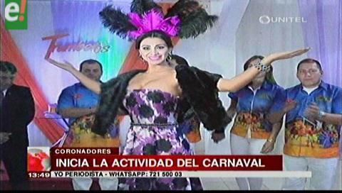 Pamela Justiniano junto a los Chabacos iniciaron sus actividades carnavaleras