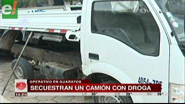La Felcn secuestra un camión con droga en Guarayos