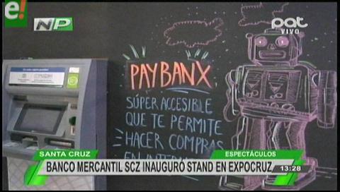 Expocruz 2016: Banx presente en la vitrina comercial