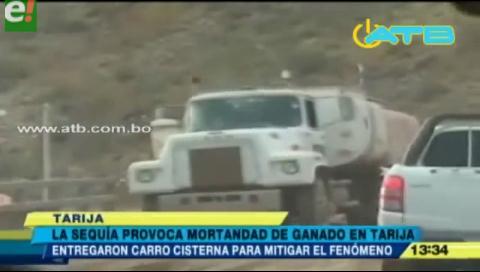 Llegan cisternas a Tarija para mitigar la sequía