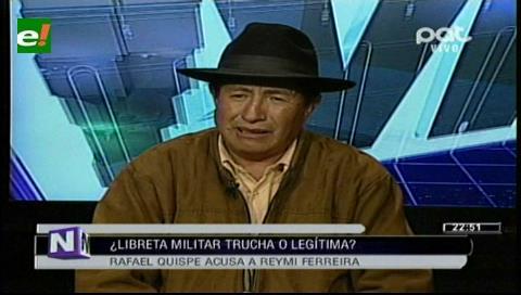 Quispe ratifica que hay irregularidades en libreta de servicio militar del ministro Ferreira