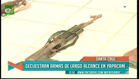 Yapacaní: Felcn secuestra armas de grueso calibre en una hacienda