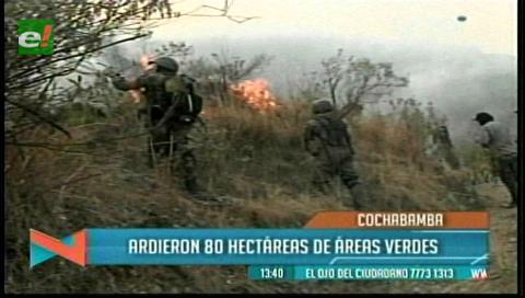 Un incendio en el Parque Tunari quema 5 hectáreas de pajonales