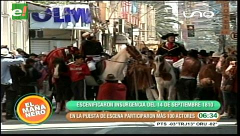 Escenifican la insurgencia del 14 de Septiembre de 1810