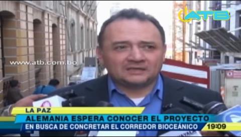 Bolivia y Alemania se reúnen para concretar proyecto del corredor biaceánico
