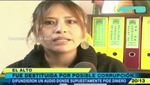 Destituyen a directora de Educación de la Alcaldía de El Alto