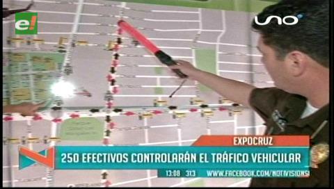 Expocruz 2016: 250 policías controlarán el tráfico vehicular