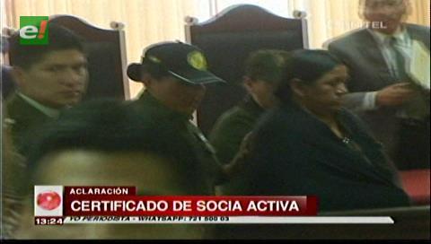 Certificado de Achacollo es de socia de Fegasacruz
