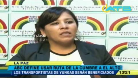 ABC habilitará ruta desde El Alto hasta La Cumbre