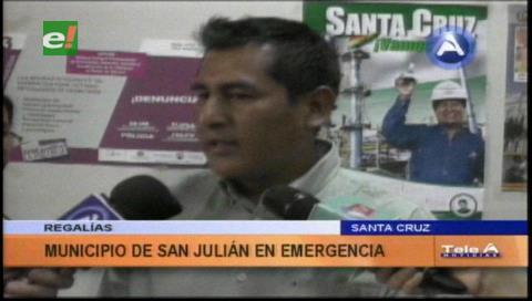 San Julián en emergencia por las regalías