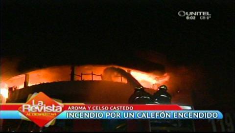 Santa Cruz: Bomberos sofocan llamas en edificio de la Calle Celso Castedo