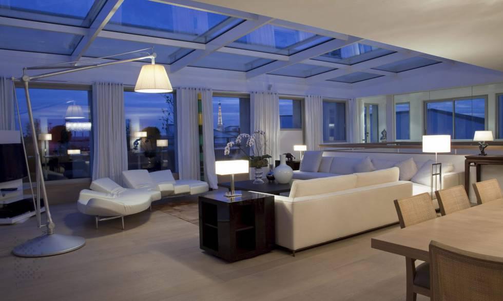 Interior de uno de los apartamentos del hotel Pourtalès.