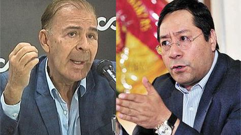 El presidente de la Cainco, Jorge Arias, y el ministro de Economía y Finanzas, Luis Arce.