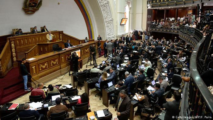 Vista de una sesión del Parlamento venezolano.