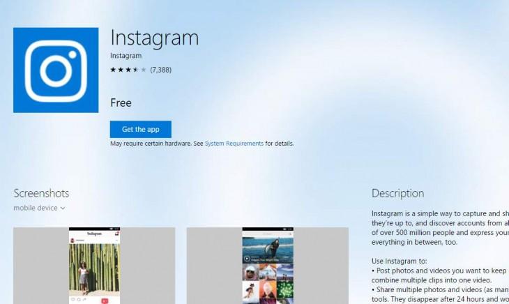 Instagram ahora estará disponible para PC
