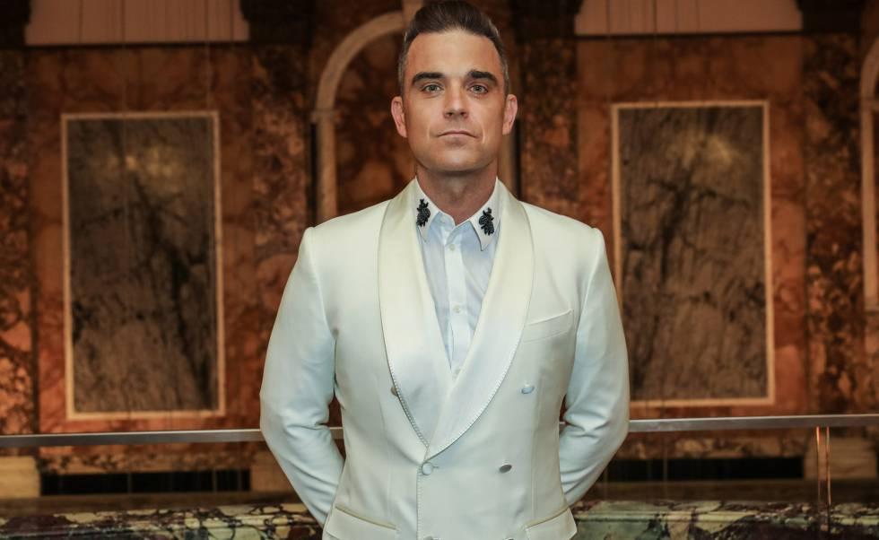 El cantante Robbie Williams, en los premios Attitude celebrados en Londres