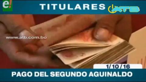 Titulares de TV: Más sectores se oponen al pago del segundo aguinaldo