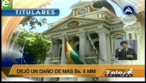 Titulares de TV: Ferreira. Constructora del ejército quebró por subvaloración de obras