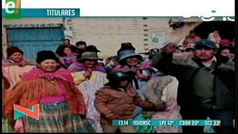 Titulares de TV: Radicalizan los bloqueos en contra de alcaldesa de El Alto