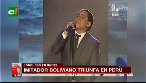 Perú: Cristian Castro boliviano se destaca en un programa de imitadores