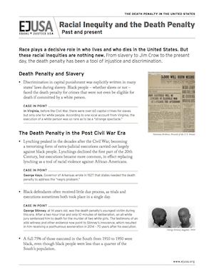 EJUSA Fact Sheet: Racial Iniquity