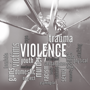 VIOLENCE word cloud graphic