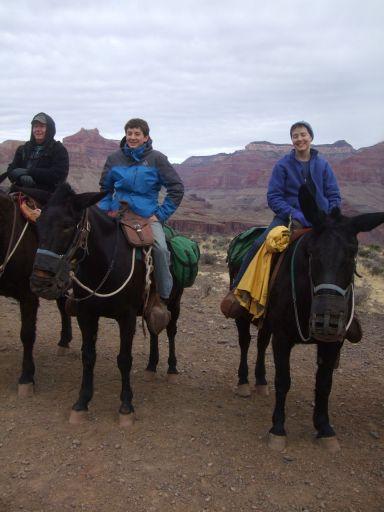Will & Ellen on the mule ride up