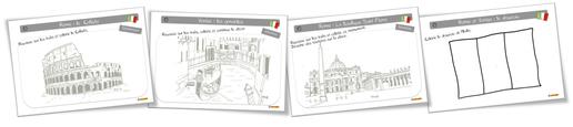 Coloriages : L'italie à la Bout de gomme