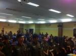 Prosesi sebelum pengukuhan Garda Tipikor FH-UH, Senin (22/5) di Aula Harifin A. Tumpa FH-UH.