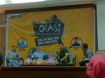 Kegiatan Obrolan Rutin Aktualisasi Konstitusi (Orasi) di Aula Harifin A. Tumpa Fakultas Hukum Universitas Hasanuddin (FH-UH), Senin (23/10). Mef
