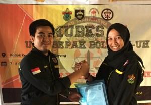 Lisna Meyanti Muchlis Ketua UKM Sepak Bola FH-UH terpilih periode 2017-2018.