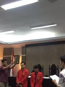 Suasana kongres Keluarga Mahasiswa (Kema) Fakultas Hukum Universitas Hasanuddin (FH-UH) di Aula Harifin A. Tumpa FH-UH, Rabu (25/10). Fas
