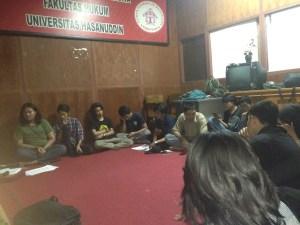Kongres Kema FH-UH di sekretariat DPM FH-UH, Senin (20/11). Fas