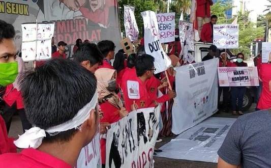 Soroti Peluang Korupsi Pemilu, Mahasiswa Gelar Aksi Pada Hakordia
