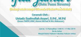 LD Asy-Syariah FH-UH Rangkaikan Iftar dengan Berbagi Sembako