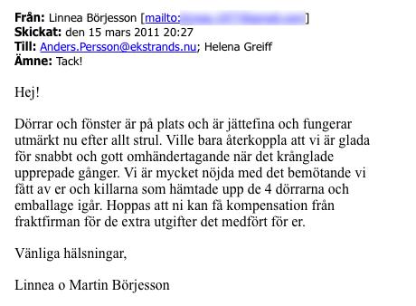 12 Ekstrands referenser Linnea & Martin