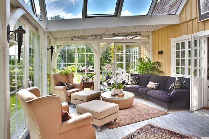 Vinterträdgård med Ekstrands skjutfönster Patio Life