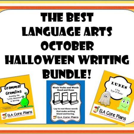 The Best language arts october halloween writing bundle