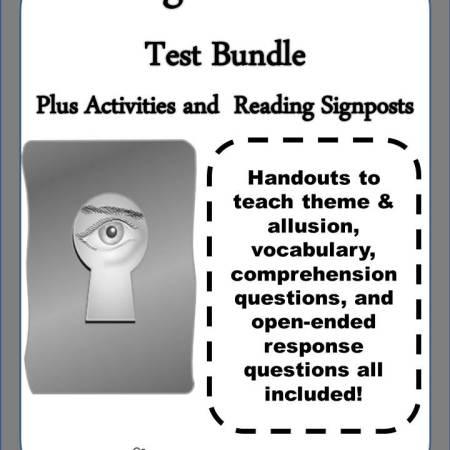 """Cover for """"Among the Hidden"""" Test Bundle plus Activities and Reading Signposts"""