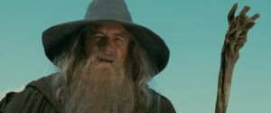 Ian McKellen como Gandalf el Gris