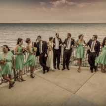 Wedding Party on Ocean