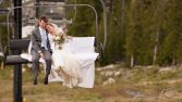 Bride and Groom on the Chairlift