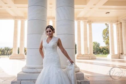 Bride at Cheesman's Columns