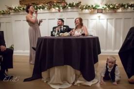 cute moment during wedding speach