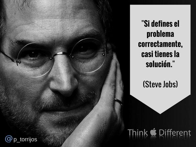 Cita de Steve Jobs- Resolución del problema