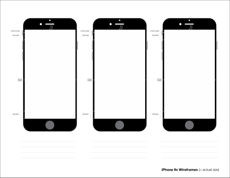 iPhone 6s Wireframes