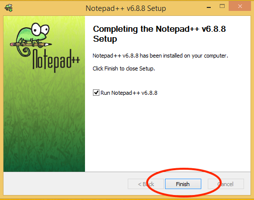 Notepage++ Finish Install
