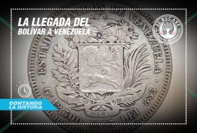 La llegada del bolívar a Venezuela