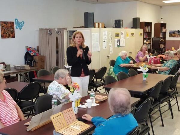 Speaking at North End Senior Center